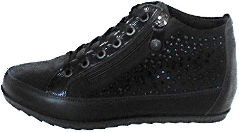 ENVAL SOFT Scarpa Donna Alta alla Caviglia con Cerniera,zeppina Interna di 3 Centimetri,Numero 36 | Modalità moderna  | Gentiluomo/Signora Scarpa