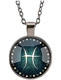 920fad2f0595 Collar Horóscopo Símbolo Signs of Zodiac 12 Constellation Jewelery Vintage  Colgante de Regalo para Mujeres Hombres