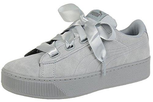 Puma Damen Sneaker Vikky Platform Ribbon S 366418 Quarry-Quarry 42.5