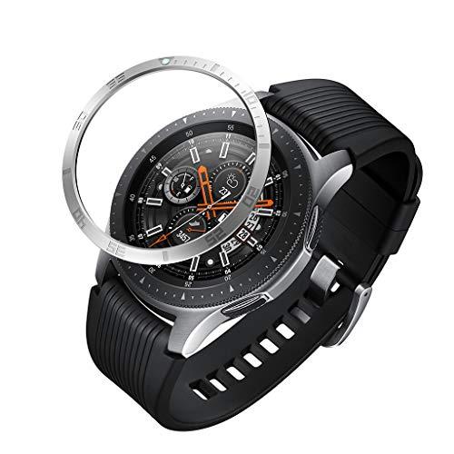 Webla - Silber für Samsung Galaxy Watch 46Mm Lünette Adhesive Ring Scratch Cover Metall, Nachtleuchtende Schutzhülle Protector Schwarz Edelstahl Silber - Spüle Edelstahl Protector