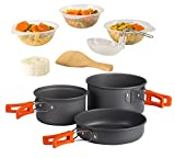 #7: Wealers Ultimate 11 Piece Outdoor Cooking Kit - Compact Lightweight Cookware Set Includes Utensils, Pots and Bowls Excellent for Camping / Backpacking / Hiking / BBQ / Survival