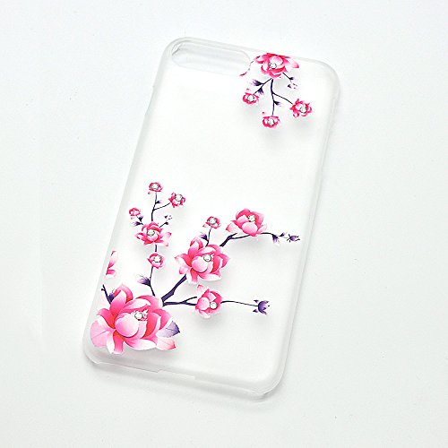 Détachable Coque pour iPhone 8 Plus / 7 Plus [360 Degrees Protection] Housse, Vandot Ultra Slim Thin Matte Housse Couverture Étui pour iPhone 8 Plus / iPhone 7 Plus 5.5 Pouces Case Anti-rayures Antich YK-pivoine