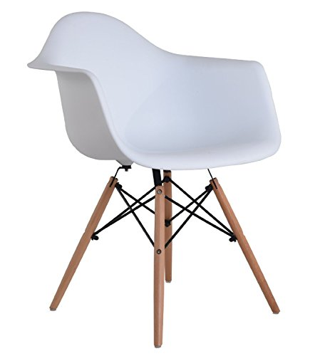 Fashion Commerce Daw Sedia, Polipropilene, Bianco, 61x59x80 cm