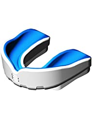 Makura Ignis Pro - Protector bucal blanco White/Blue Talla:Junior
