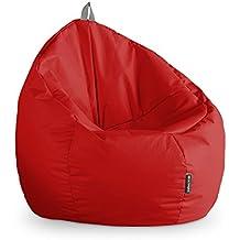Happers Junior Puff, Piel Sintética, Rojo, 70x70x70 cm