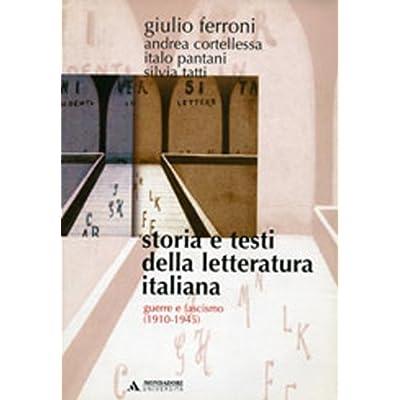 Storia E Testi Della Letteratura Italiana: 9