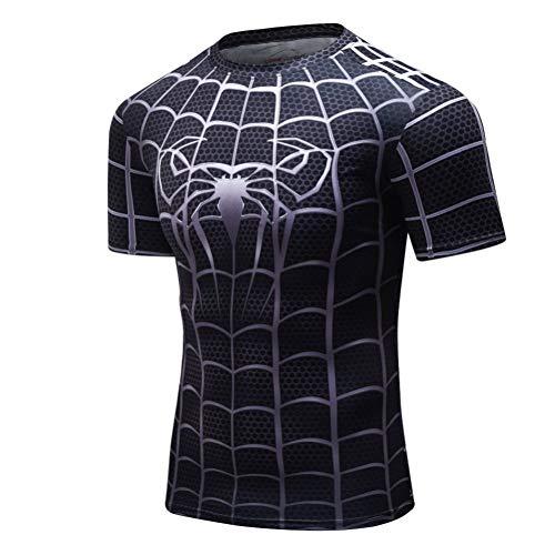 ZCYTIM 3D Print T-Shirts Männer Compression Shirts Superheld Tops Kostüm Kurzarm Fitness T-Shirts (Superhelden Bier Mädchen Kostüm)