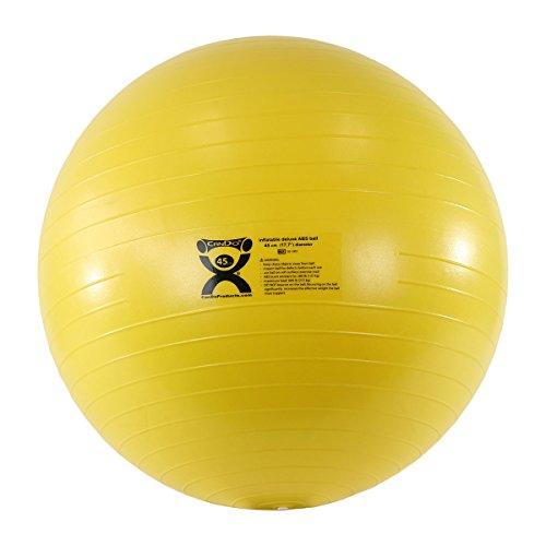 Cando® Deluxe Anti-Burst Gymnastikball, Durchmesser 45cm, gelb (Fitness 45 Cm Ball)