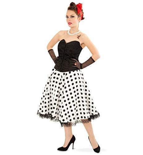 `n Roll Rock schwarz-weiß gepunktet Tupfenrock Daisy Tellerrock Tanzrock Rockabilly 50er/60er Jahre (40) ()
