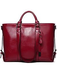 vancoo Mujer Piel Auténtica Bolso de mano y hombro bolsas de mensajero satchel Tote bolso bolsas estilo urbano 3Vías