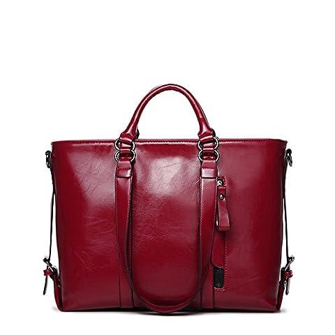 Frauen Leder Handtaschen Schulter Kurier Beutel Schuletaschen Tote Geldbeutel Taschen Städtische Art