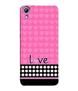 PrintVisa Designer Back Case Cover for HTC Desire 828 Dual Sim (Love Lovely Attitude Men Man Manly)