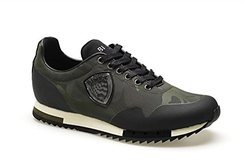 Military Usa Blauer cam 7fdetroit01 Green Uomo Sneakers