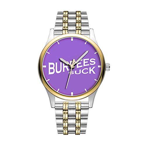 Personalisierte Minimalistische Burpees Suck-Funny Inspiration Watch Goldene Fashion wasserdichte Sportuhr
