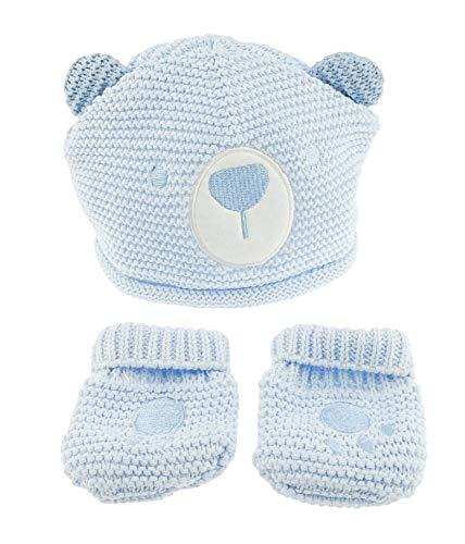 Gorro manoplas invierno niñas 0 3 meses, 100% algodón