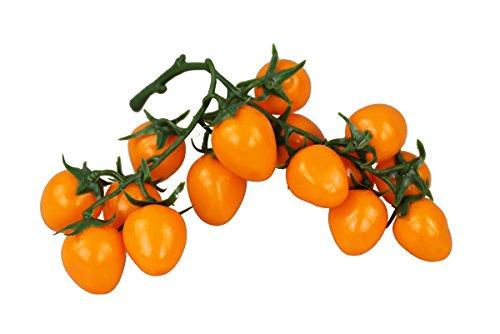 Deko Cherry Tomaten orange 1 Bund Kunstobst Kunstgemüse künstliches Obst Gemüse Dekoration - Orange Cherry-tomaten