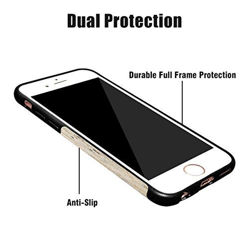 Best iPhone 6Plus/6S Plus Coque en bois Dual-Walnut