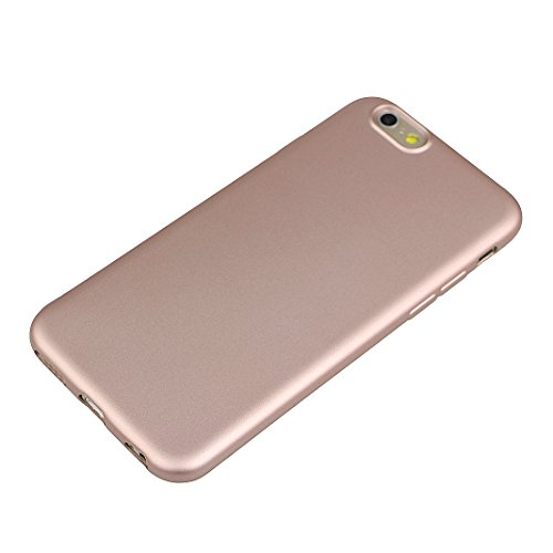 Coque iPhone 7, Rosa Schleife Ultra Mince Fini Mat Coque Premium TPU Etui Silicone Plating Bumper Antichoc Matte Case pour Apple iPhone 7 Or rose