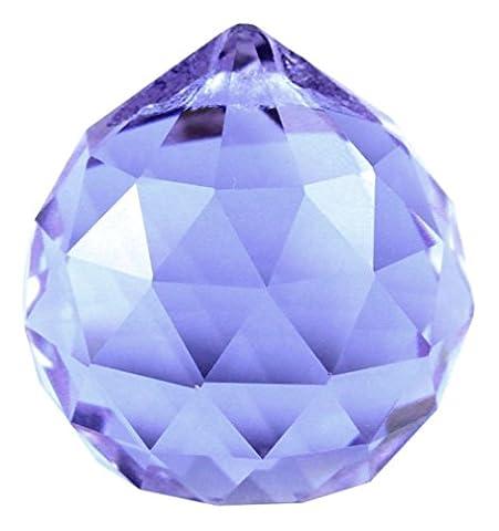 LanLan Color Crystal Decorative Lamp Ball Purple 30mm Prisms #1701-30