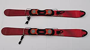 SNOWBLADES kurzski firefly rouge, avec fixations 99 cm-neuf