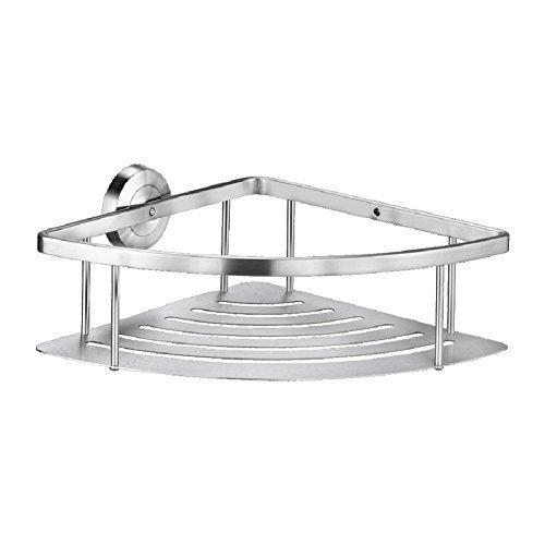 Hochwertiger Bad Duschkorb aus Edelstahl (dreieckig)