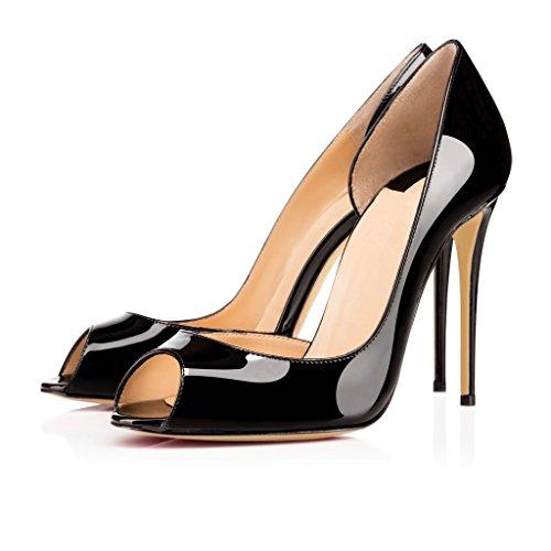 Edefs Damen Peep Toe Pumps High Heel Stiletto Absatz D Orsay