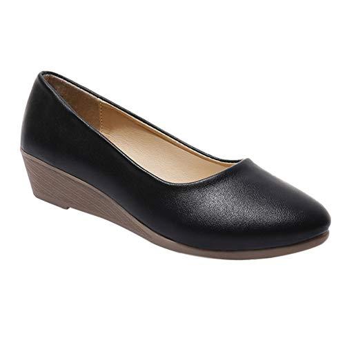 uirend Schuhe Damen Segelschuhe - Pumps Abendschuhe Keilabsatz Platform Mokassin Oxfords Bequem Leicht Büro Arbeits Uniform Berufsschuhe (Schuhe Kleiner)