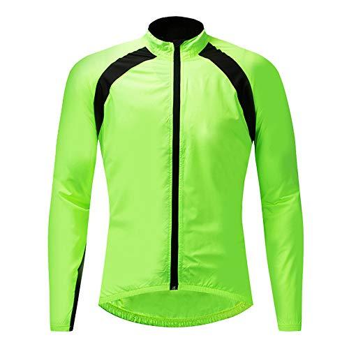 zouxiang Giacca da Ciclismo Ciclismo Impermeabile Idrorepellente Impermeabile Giacca a Vento Giacca a Vento Giacca in Jersey Verde XL