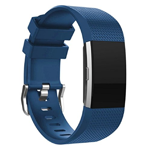 Fitbit Charge 2 Armband, OverDose Neue Art und Weise Sport-Silikon-Armband-Bügel-Band für Fitbit Charge 2 (Blau)