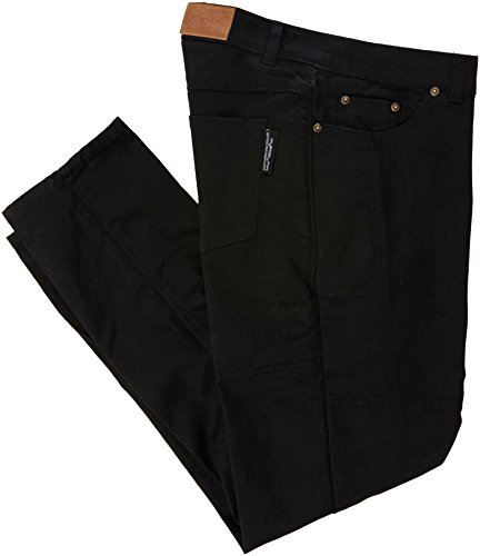 Ladies Motorcycle Jeans CE Knee Armoured KEVLAR Stretch Denim BLACK 16 Short