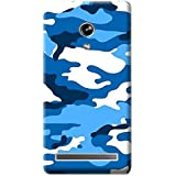 Bloody Branded Back Case For Asus Zenfone 6 | Asus Zenfone 6 Back Cover | Asus Zenfone 6 Back Case - Printed Designer Hard Plastic Case - Camouflage Theme(Blue, White & Royel Blue)
