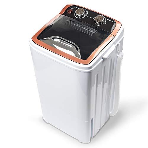 Dawoo 4.4Kg Tragbare Mini-Waschmaschine Vollautomatische Einzelwannenwaschmaschine Mit Ablaufpumpe Und Zeitschaltuhr (32 Cm * 34 Cm * 66 Cm)