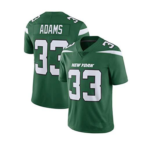 Lvlo # 33 Jamal Adams, New York Jets, Rugby Jersey Camiseta, Ropa de Deporte del fútbol Americano Color...