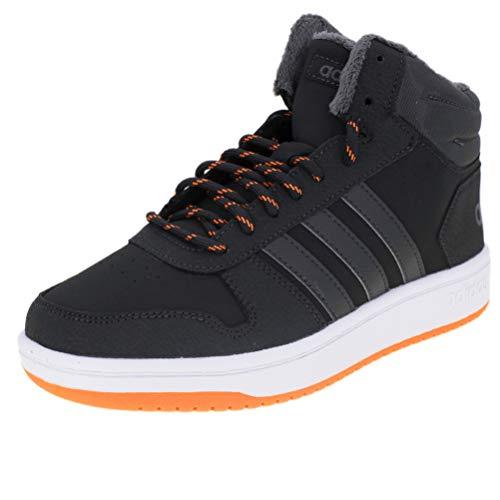 adidas Unisex-Kinder Hoops Mid 2.0 Basketballschuhe, Grau Carbon/Grefiv/Hireor, 38 EU