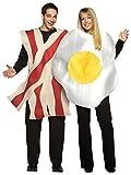 Fun World Bacon y huevos desayuno adultos Fancy vestido par pares alimentos disfraces para hombre