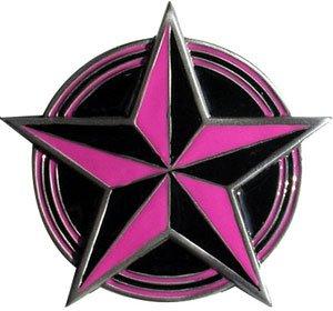 Tattoo Nautical Stars (Nautical Star Tattoo Gürtelschnalle Punk pink)