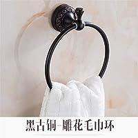 Comparador de precios LEODIKA anillo de toalla de cobre negro anillo de toalla europeo Retro toalla colgando anillo de toalla toalla colgante anillo toalla de baño, anillo de toalla lámpara mágica negro - precios baratos