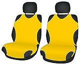 ZentimeX Z706267 Sitzbezüge Vordersitze T-Shirt-Design Baumwolle gelb