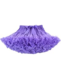 DoGeek Tutu Falda de Capas de Volantes Falda de Tul de Petticoat Tutú para Niñas