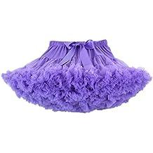 c66743dacf DoGeek Tutu Falda de Capas de Volantes Falda de Tul de Petticoat Tutú para  Niñas