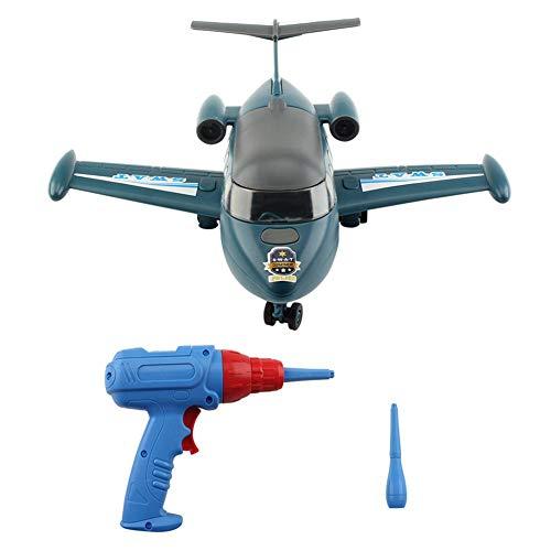 39 STÜCKE DIY Montage Modellflugzeug Kit Nehmen Spielzeug Für Jungen Mädchen Kinder Bohrschrauben Spielzeug Geschenke Mit Lichter Und Ton Nehmen Werkzeug - Mädchen Handwerk 11-jährige Für