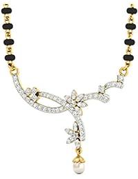 PC Jeweller The Oralee 18KT Yellow Gold, Diamond & Pearl Pendant