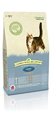 James Wellbeloved Dry Cat Food Turkey and Rice Light 1.5 Kg