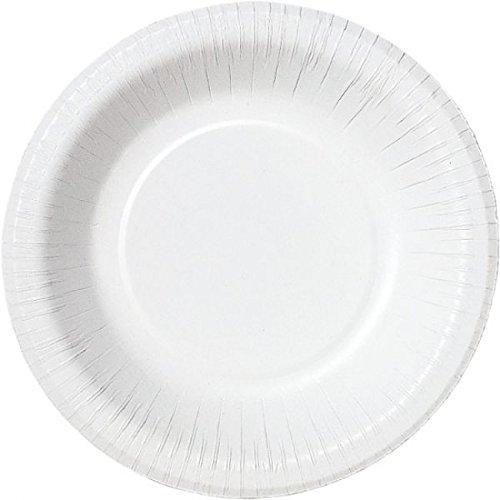 Duni 168353Papier, Teller, Schale, 18cm Mid, 100Ice Weiß/Weiß (800Stück)
