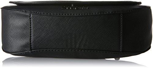 Desigual Damen Bols_varsovia Sandra, 2000, U Umhängetasche, Schwarz (Negro), 5x18x13.5 cm Schwarz (Negro)