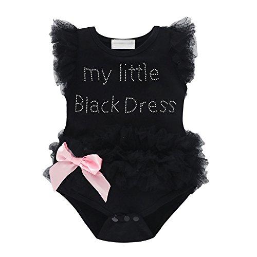 Brightup Baby Mädchen Strampler mit Bowknot, Spitze Tüll Body Rüschen Overall Outfits (Tüll Rüschen)