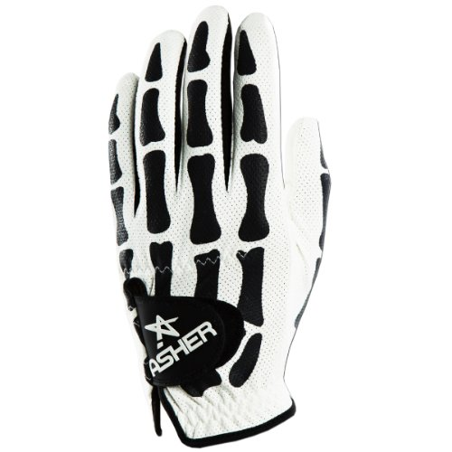 Asher Death Grip White Cooltech Herren Golfhandschuh (ML, LH-Handschuh für die linke Hand-für Rechtshänder) -