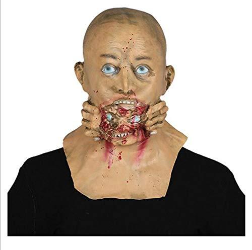 FENGFENGGUO Horror Maske, Halloween Schädel Gesicht Horror Scary Ghost Mask Teufel Grimasse Adult Room Escape Haunted House Lustiger Teufel Film und TV Requisiten Maskerade