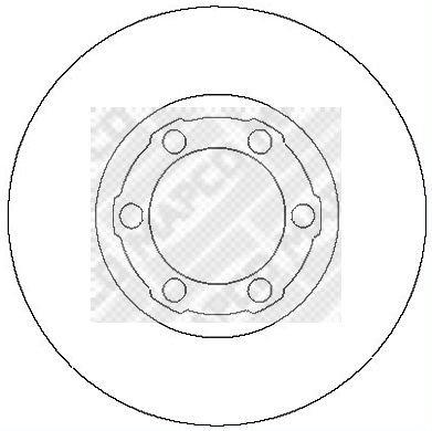Preisvergleich Produktbild MAPCO 26642 Radlagersatz Radnabe Hinterachse mit ABS