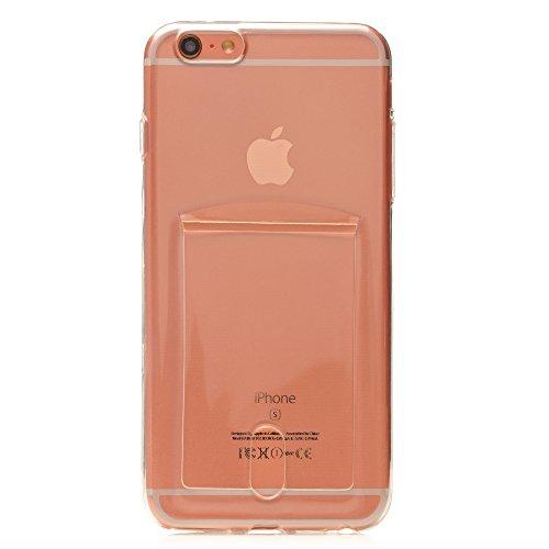 iProtect coque pour Apple iPhone 6 6s Plus souple en TPU avec compartiment supplémentaire pour photos Polaroid Instax Mini